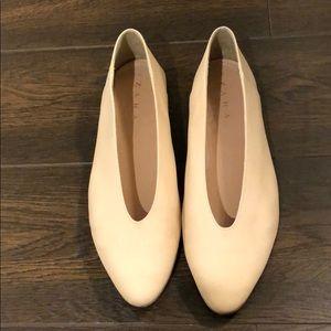 Zara nude Flats. Worn once size 40